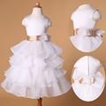 grace karin design agradável branco vestidos de festa para meninas de 10 anos cl4841