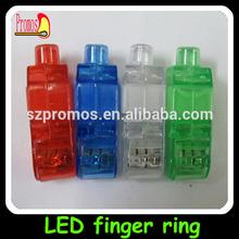 Novelty flashing led light up jelly finger ring