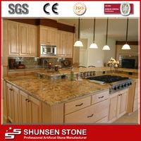 Agglomerated Sparkling Artificial Quartz Stone Kitchen Countertop SQC072