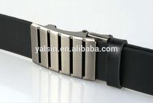 aar1016 western euro black cowhide leather auto lock belt buckle,automatic belts with flat buckle