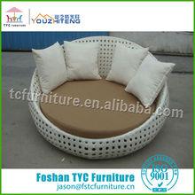 Foshan rattan round beds sofa cum bed designs