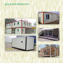flat packed 20ft container office , prefab sandwich panel container bathroom , light steel frame container living house