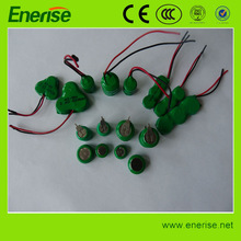 1.2V 3.6V NiMH Rechargeable Button Cell Battery