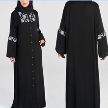 alibaba wholesale OEM china supplier abaya latest design long sleeve muslim women dress pictures