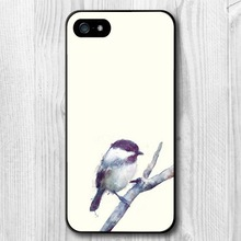 Lovely tiny bird protective hard cover case for iphone 5 5s custom printed