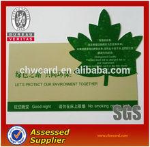 Pvc Plastic Irregular Leaf Shaped Card