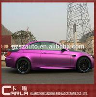 Car protect accessories chrome film pink carbon fiber vinyl