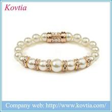 2015 Top sale big pearl bead magnetic bracelet jewelry wholesale