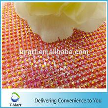 Cheap price decorative rhinestone mesh trims 3mm resin