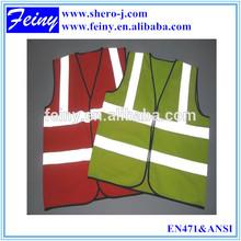 logo custom High visible red colors luminous safety vest en471