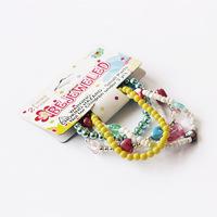 YiWu DeSai yellow glass bead jewelry gift for girl bracelet 2014