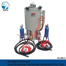 Industrial used small sandblasters for sale, portable sandblaster with 2spray gun