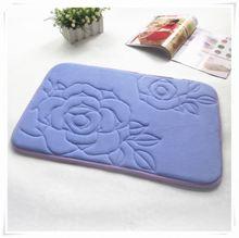 Fashion elegant home using floor acrylic fiber high quality non-slip mat/Memory foam bath mat_ Qinyi