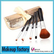 Professional cosmetics makeup tools!Shining bag pack 5pcs best makeup brushes