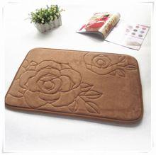 2013 Fashion New design home using flannel fabric comfort mat/Memory foam bath mat_ Qinyi