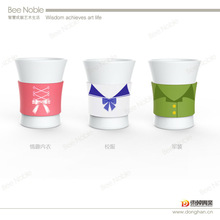uniform promotional ceramic mug cups with different clothing