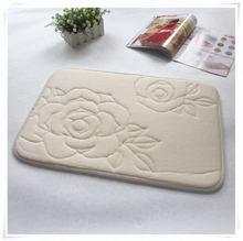 duck bath mat oval shape bath mat memory foam/Memory foam bath mat_ Qinyi