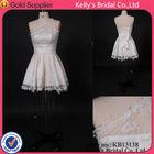 2015 lace rhinestone evening wedding dresses short make from china