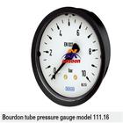 111.16 WIKA Axial connection Bourdon tube pressure gauge, pressure gauge vacuum