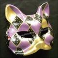 Nuovi all'ingrosso handpaint testa di animale maschera veneziana cat maschera per maschera partito