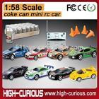 1:58 Scale PVC Coke Can RC Mini Race Car Toys