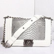 GL449 online shopping india designer leather chain snake skin bags