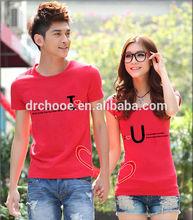 Lovely design lover Cheap couple t shirt
