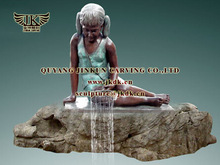 bronze lady statues for garden fountain decoration sculptures