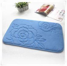 Popular updated slip resistant bathroom mat/Memory foam bath mat_ Qinyi