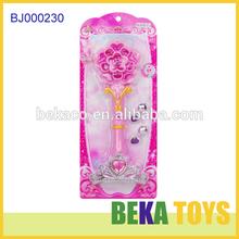 Fancy girls toy led flashing pink princess toy wand fairy baby wand musical magic wand