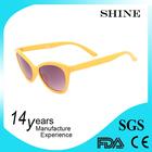 Colored plastic bulk wholesale sunglasses yellow frame china alibaba s1