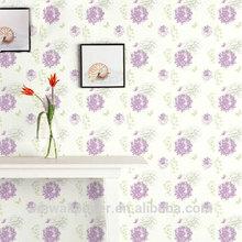 Modern Purple Interior Wedding Decoration Korean PVC 3d Wallpaper