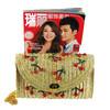 2014 wholesale trendy fruit patterned straw shoulder beach bag ,women fashion holiday vocation beach bag