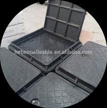 square composite manhole cover EN124 D400/plastic manhole cover