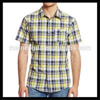 Alibaba china raw cotton short sleeve trendy men's shirts for wholesale