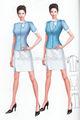 Casual de uniformes de oficina, las señoras de uniformes de oficina, las niñas traje de negocios