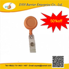 Yellow round shape yoyo badge reel with PVC swivel belt clip on stock