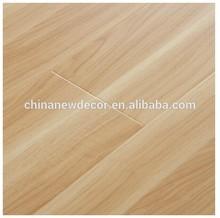flat texture oak laminated floor with u groove
