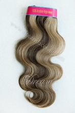 "8~30"" brazilian virgin remy Hair weave Body Wave 4/27 highlight Brazilian Hair bundles"