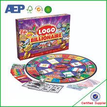 Monopolio gioco da tavolo produttore di stampa, tavolo da gioco personalizzate