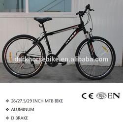 Cheap 26inch MTB/Mountain bike/bicycle alloy frame V brake 24 speed