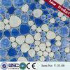 Y-33-08 rhombus round glass mosaic floor tile dubai