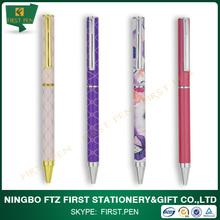 First Y307 Souvenir Metal Slim Full Pen Body Printed Pens