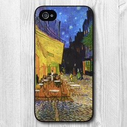 Van Gogh Cafe Terrace Protective Hard Cover cheap mobile phone Case For iPhone 4 4S