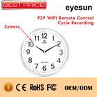 P2P Wireless Remote Control Pinhole Camera,Wall Wifi Camera Cycle Recording