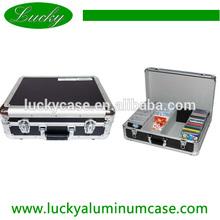 Large capacity aluminum black cd dvd storage case