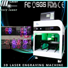 2d 3d laser photo engraving printing machine for crystal trophy
