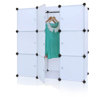 2014 popular 7 cubes DIY Chinese white armoire closet FH-AL0031-9