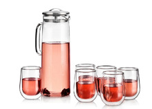 borosilicate glass water filter pitcher