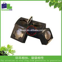 Elegant Design Cupcake Box with Handling to Hold 2pcs samll cupcake